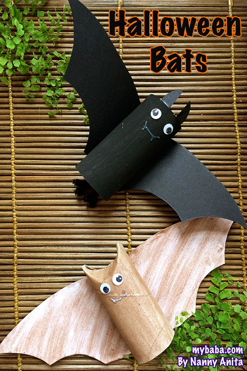 Loo roll bats: make these cute bats in this children's halloween craft.