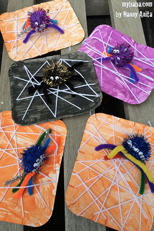 Halloween Spider Web Craft: A fun and easy craft for children that will not only get their imagination flowing but also help develop those fine motor skills.