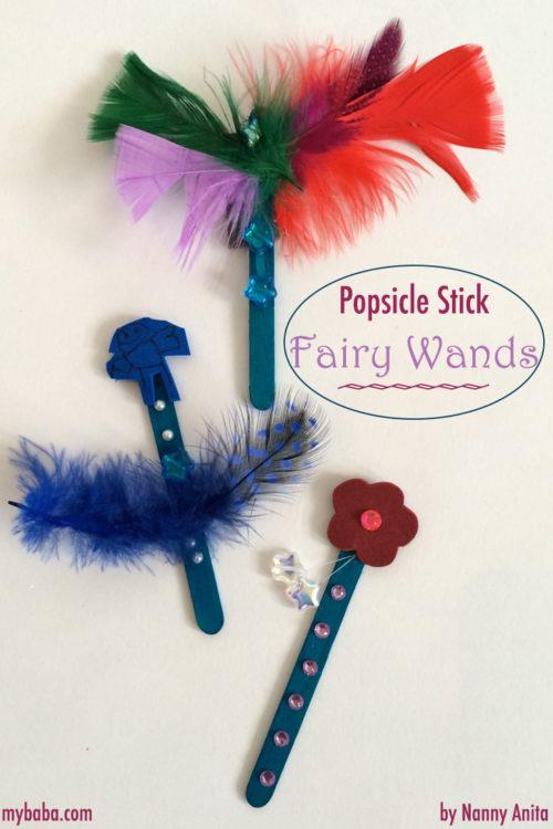 Make craft stick fairy wands in this cute kids craft.
