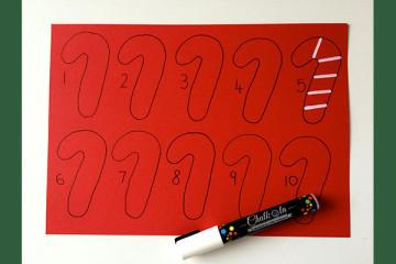 candy cane maths activity