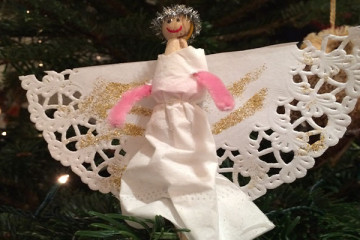 Christmas Peg Angel Decoration
