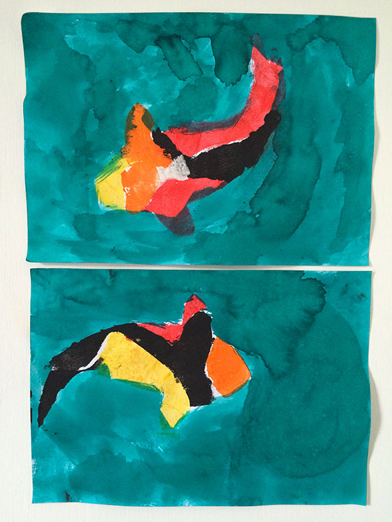 EC and YC's very colourful Koi fish.