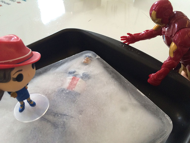 Iron Man and Agent Carter are very upset by this.