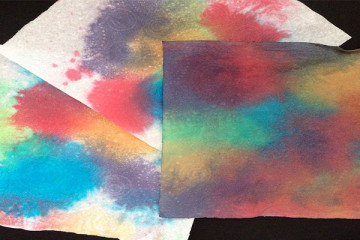 Colour mixing using kitchen towel