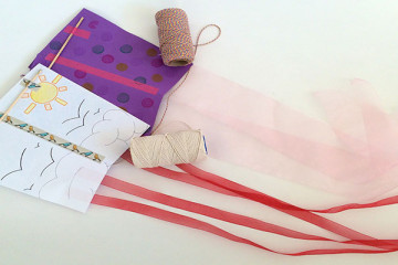 Let's go fly a kite - how to make a paper kite