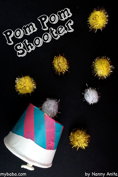 How to make an awesome pom pom shooter that kids and adults will love playing with.