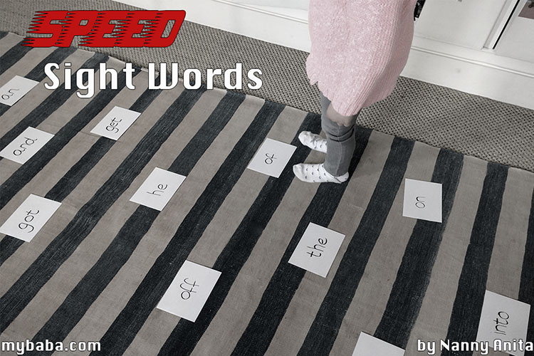 A game for learning sight words - they have to get through their pathway as quickly as they can.