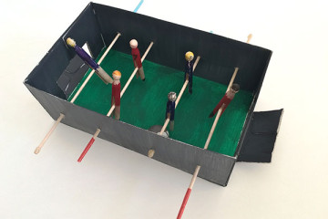 DIY table football set