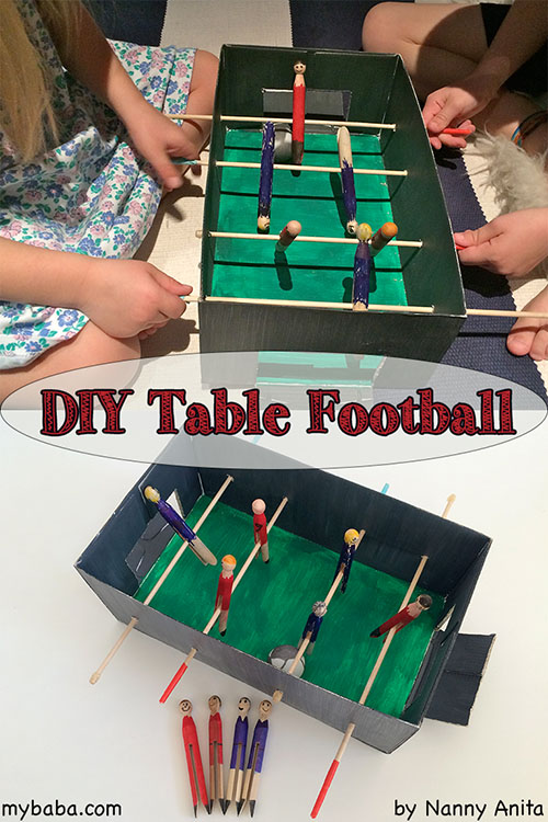Make your own table football set for hours of entertainment.