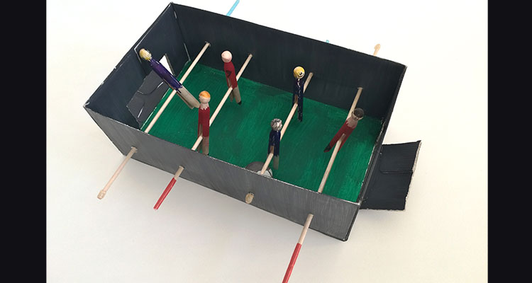DIY table football set & How To Make Your Own DIY Table Football Set ||My Baba