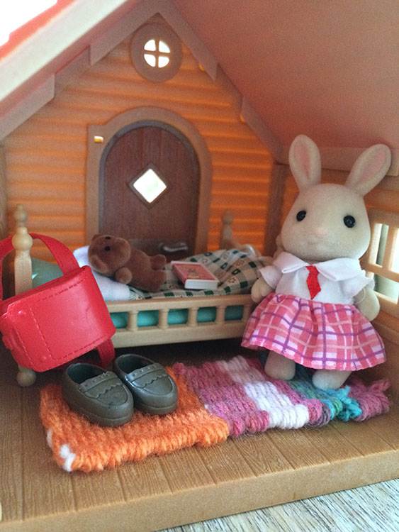 YC's finished piece in her Sylvanian house.
