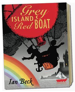 Grey Island Red Boat