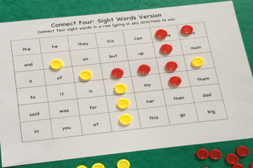 Connect 4: Sight Word Edition