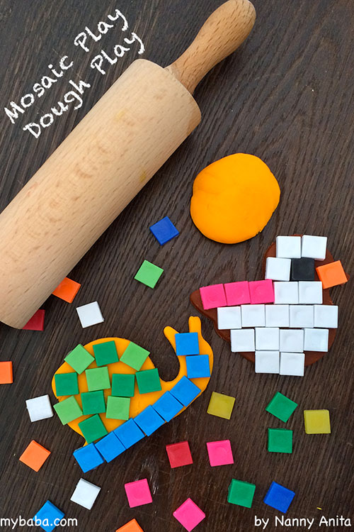 mosaic play dough busy bag - fun on the run for children of all ages.