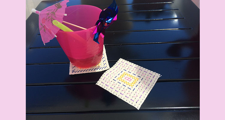 Easy Cross Stitch Coasters