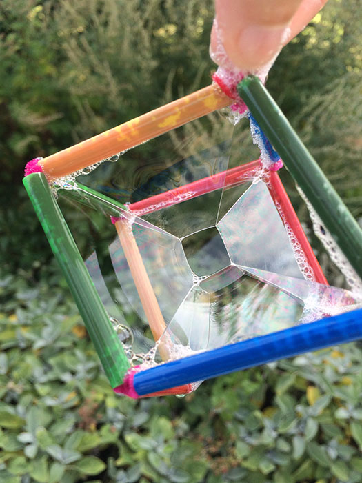 One of our geometric bubble wands!