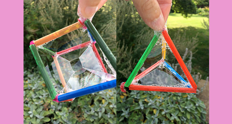 How to make geometric bubble wands