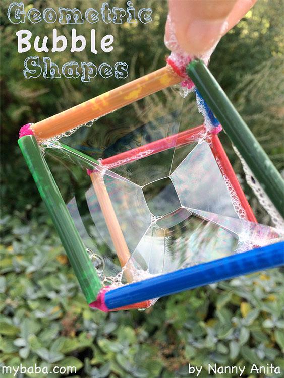 How to make geometric shaped bubble wands.
