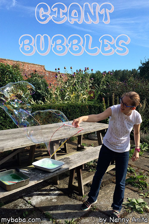 How to make a giant bubble recipe. You can never be sad while playing with bubbles this big!