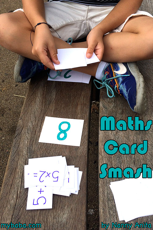 maths card smash: a game for children to help speed up doing basic sums.