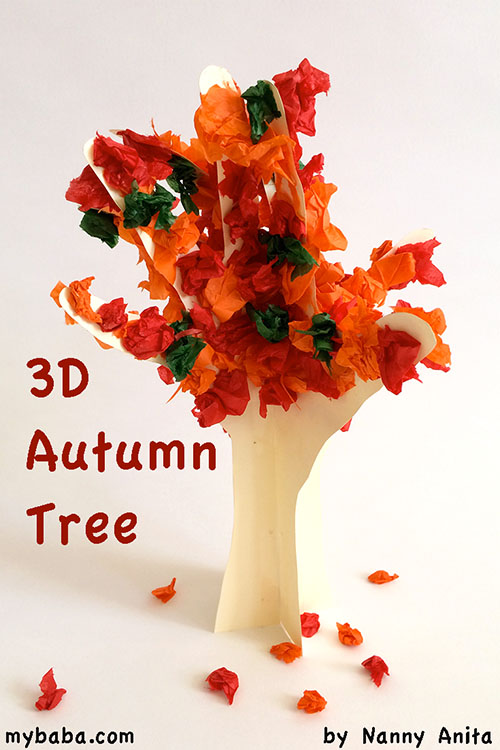Celebrate the beginning of fall with this 3D Autumn Tree craft for children.