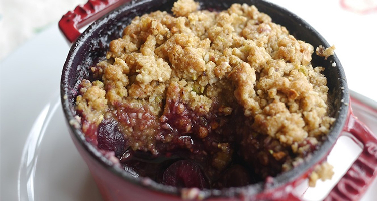 Gluten-Free Cherry And Pistachio Crumble Perfect for An Autumn Weekend ...