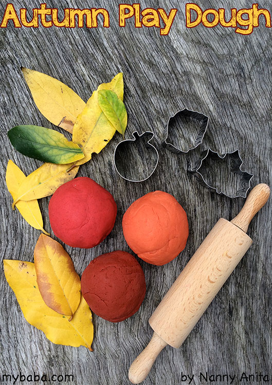 Autumn / Fall spice scented play dough.