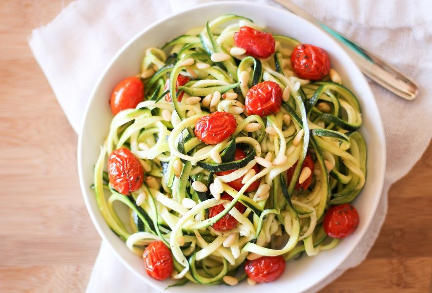 Zucchini Noodles With Arrabiata Chickpea Sauce Recipe ...