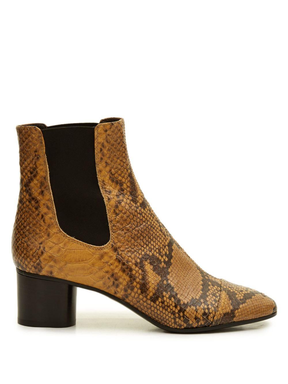 Danae snake-effect leather chelsea boots