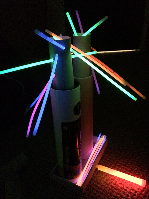 Building a glow stick city