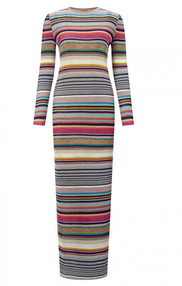 Floor Length Stretch Knit Dress