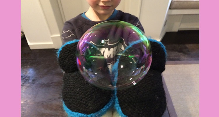 How can you bounce a bubble?