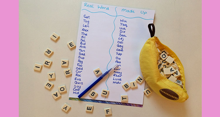 CVC word building activity