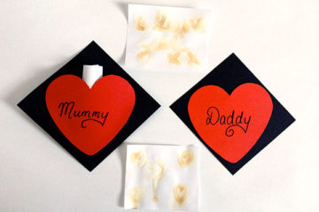 Invisible ink Valentines cards