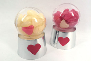 Valentine's Bubblegum machine gift