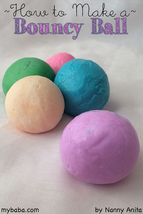 How to make a bouncy ball.