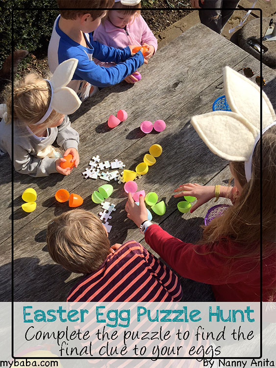 Easter egg puzzle hunt. Make their Easter egg hunt slightly more challenging with this puzzle they have to find and solve first.