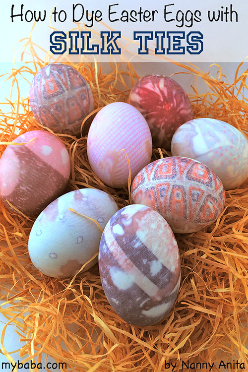 How to dye an easter egg with a silk tie
