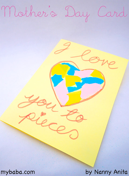 mothers day card made by children