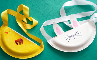 paper plate easter bags