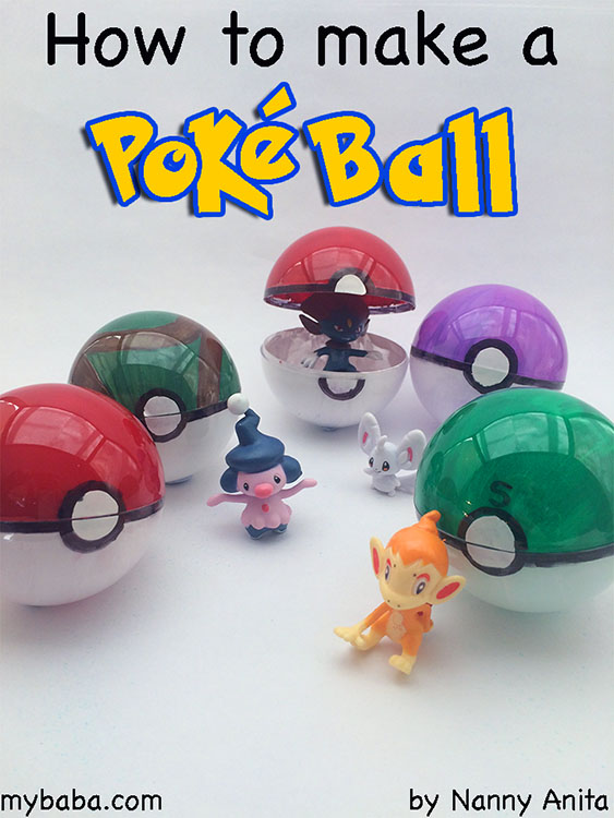 How to make a poke ball. Gotta catch em all! A craft idea suitable for any fan.