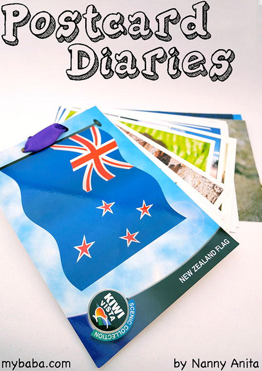 Use postcards to make a travel diary. Post them home to yourself to make the holiday last longer.