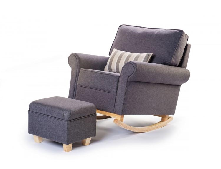rocking chair maison du monde from maisons du monde pouf reposepieds vintage en tissu bleu with. Black Bedroom Furniture Sets. Home Design Ideas