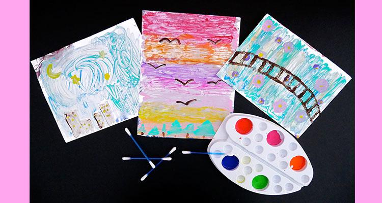 process art foil painting