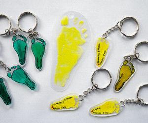 shrinky dink baby footprint keepsakes