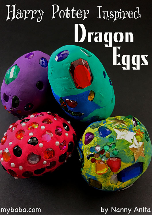 Use air dry clay and jewels to make these Harry Potter inspired Dragon eggs. Not only a fun craft for any potter fan, but also great for sparking imaginative play.
