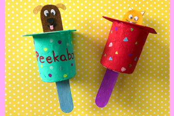 homemade peek-a-boo toy for babies