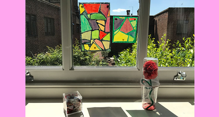 Stained glass pasta suncatcher