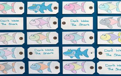 Don't wake the shark card game