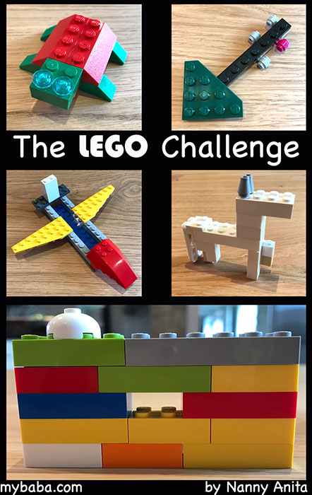 Kids and adults will love this lego challenge game.